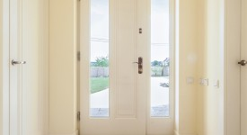 Bright corridor in modern house