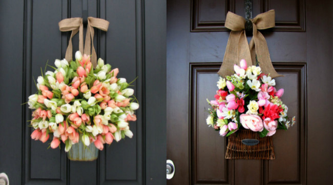 Elegant Creative Front Door Decor Ideas Except Wreath